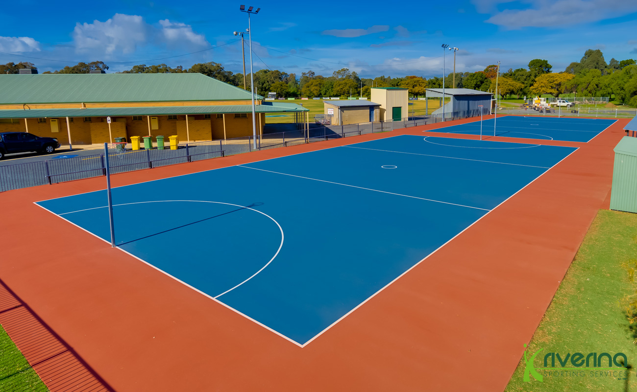 Netball Court Installation Albury - Riverina Sporting Services