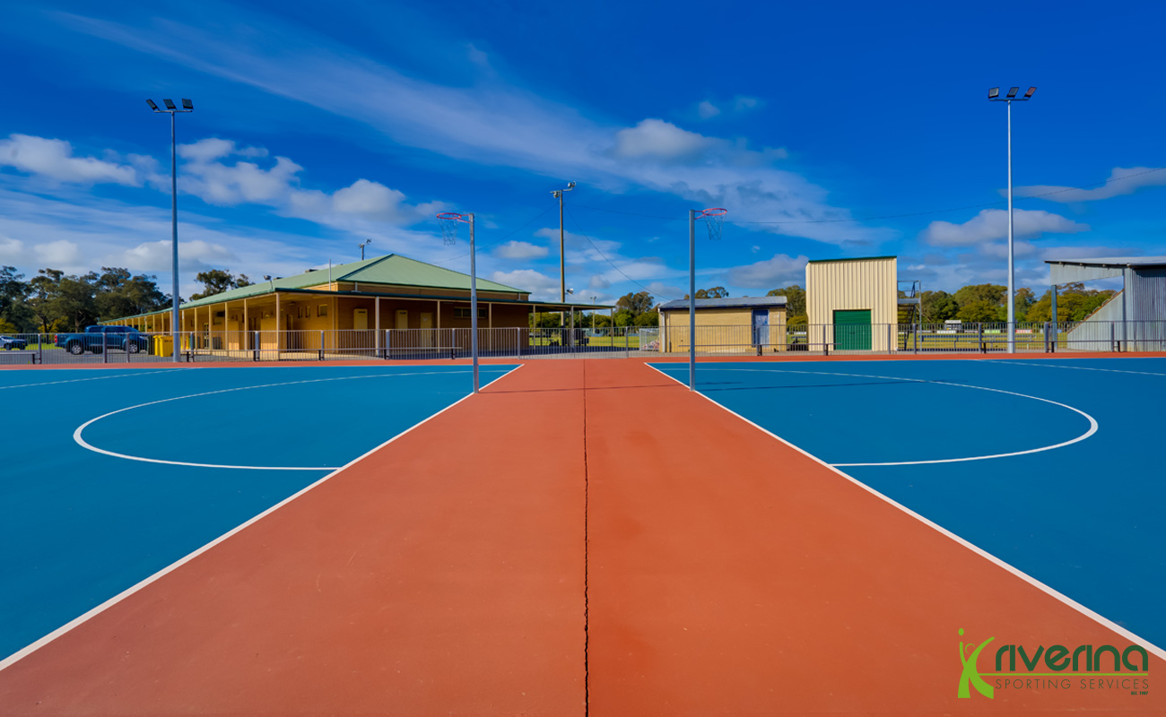 Netball Court Construction Albury - Riverina Sporting Services